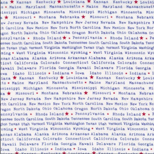 State Names 1481-01 White