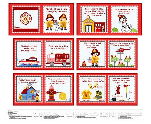 """Firefighter Book Panel - 36"""" - 1353P-88 Red"""