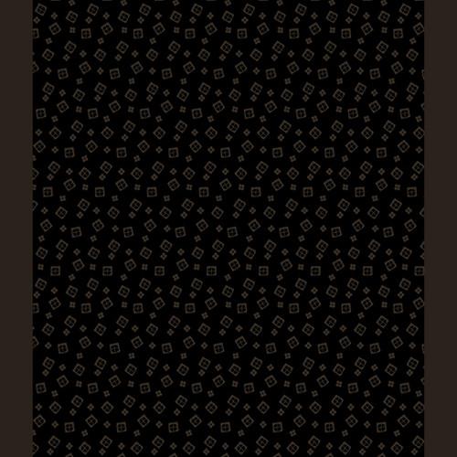 Mini Squares Black on Black