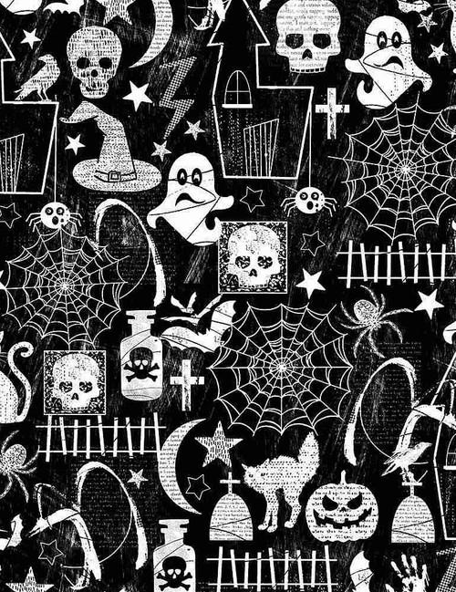Halloween Glow Motifs Black FUN-CG7787