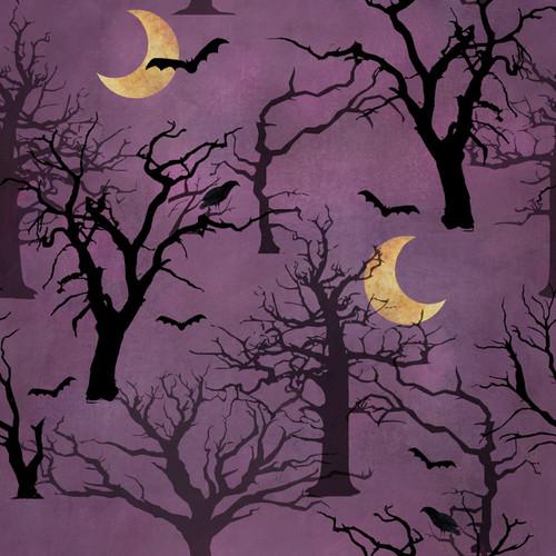 Spooky Night  18114-PUR Purple