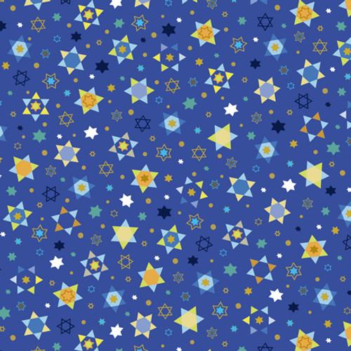 Hanukkah Greetings - Stars - Blue