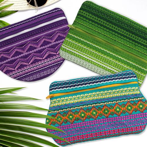 Tapestry Zipper Bags USB - 12869USB