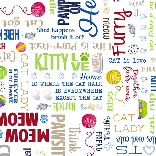 Kitty City Words White