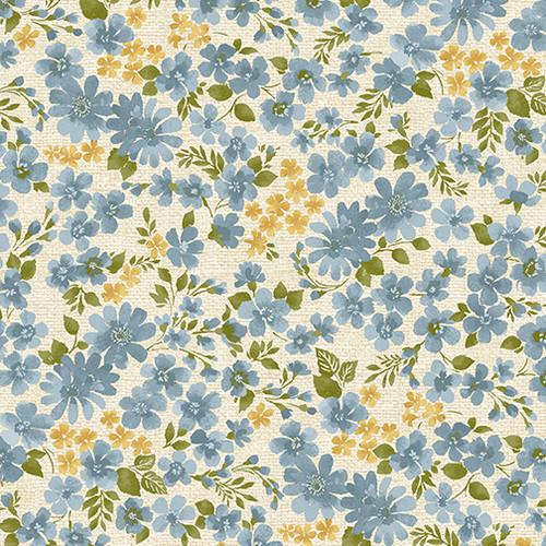 Watercolor Floral Blue - Garden Happy