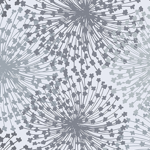 "Dandelion Dreams Light Gray 108"" Wide"