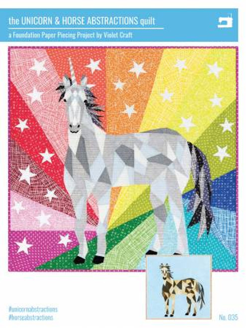 Unicorn Abstraction Quilt Pattern Violet Craft
