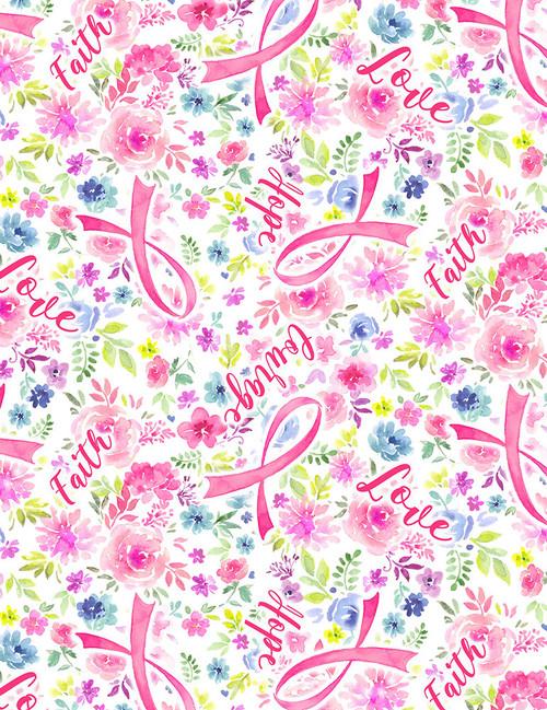 Evie-C7197 Pink - Ribbon Floral