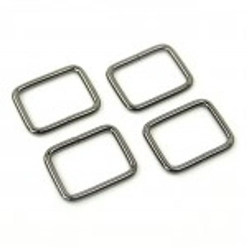 "1 1/2"" Rectangle Rings Gunmetal"