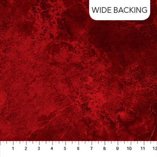"""108"""" Flannel Wide Backing Red"""