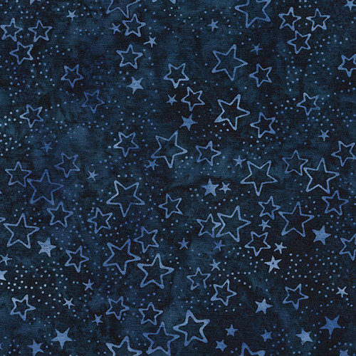 These patriotic batik fabrics by Kathy Engle for Island Batik feature star spangled fabrics and patriotic patterns