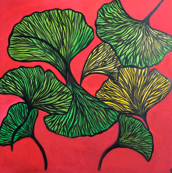 """""""Healing"""" By Jessica Oleksy - 3'x3' Acrylic Painting on stretcher bars."""