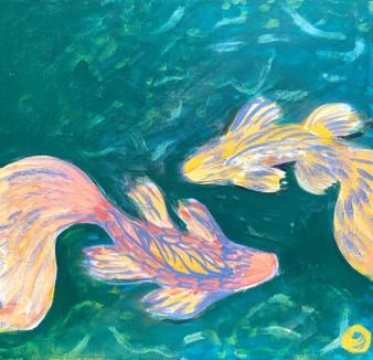 """Wonderlust"" By Jessica Oleksy - 20""x20"" Acrylic Painting on Stretcher bars"