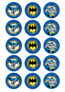 Batman - Standard licensed cupcakes
