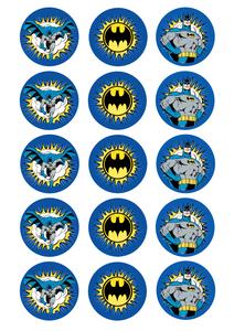 Batman - Standard licensed cupcakes