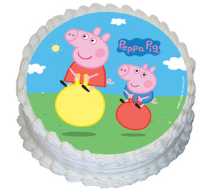 Peppa Pig 16cm Round licensed edible image