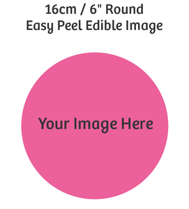 16cm Round custom edible image