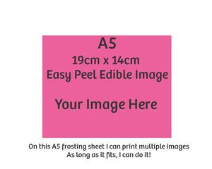 A5 custom edible image