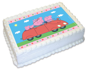 Peppa Pig A4 licensed topper