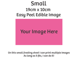 Small custom edible image