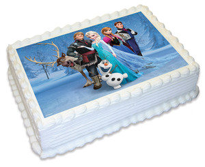 Frozen cast A4 licensed toppers
