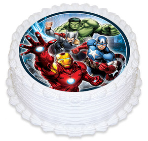 Avengers  16cm Round licensed topper