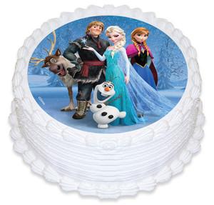 Frozen cast 16cm Round licensed topper