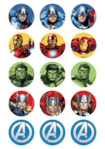 Avengers - Standard licensed cupcakes