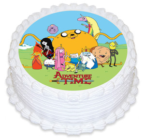 Adventure time 16cm Round licensed topper