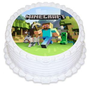 Minecraft 16cm Round licensed topper