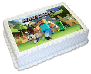 Minecraft A4 licensed topper