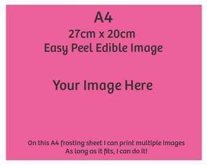 A4 Custom edible image