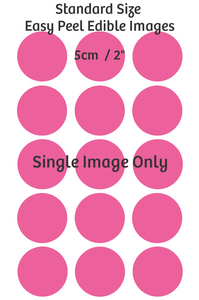 Standard cupcake size edible images - x15  5cm each Single image only