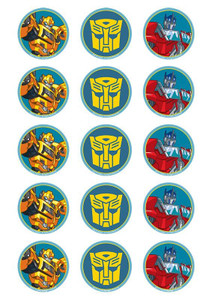 Transformers - Standard licensed cupcake toppers