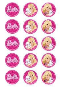 Barbie - Standard licensed cupcake toppers