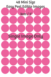 Mini cupcake size edible images -  x48 / 3cm each Single image only