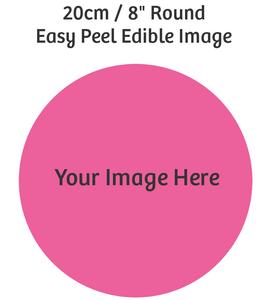 20cm Round custom edible image