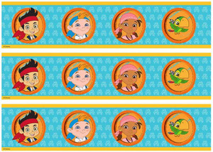 Jake and the Never Land Pirates edible cake strips
