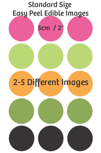 Standard cupcake size edible images - Multiple images 2 - 5 different images