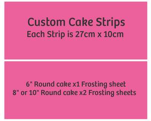 Cake Strips - Each strip is 27cm x 10cm