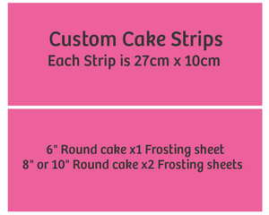 Cake Strips - Each strip is 27cm x 10cm