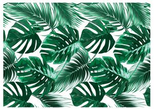 Palm leaves white cake wrap