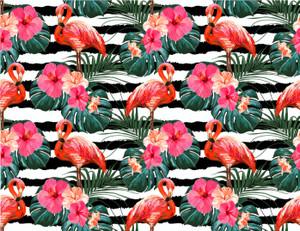 Flamingo cake wrap