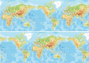World map cake wrap