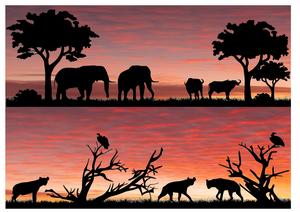 Safari silhouette 1 cake wrap