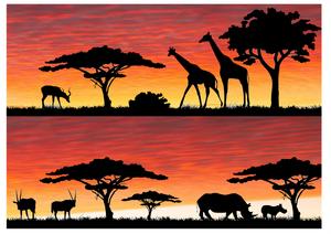 Safari silhouette 2 cake wrap