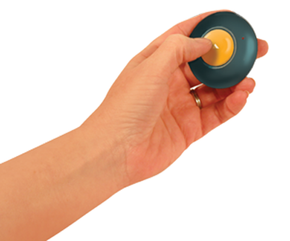 Go Talk Button is a small and affordable communication aid that is portable and easy to use.