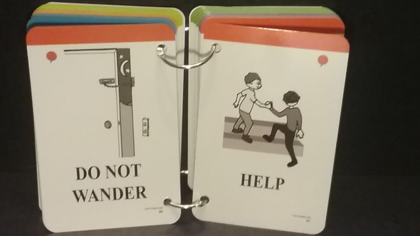 Example ring bound Caregiver Card deck