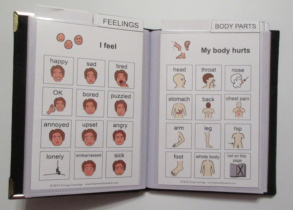 Portable Adult Communication Book
