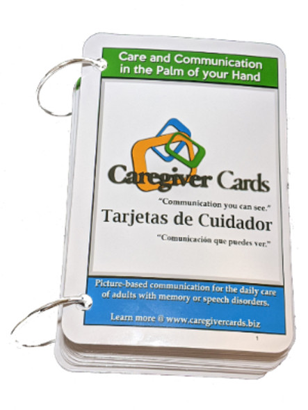 Caregiver Cards - Visual Cue Cards for Adults with Dementia, Alzheimer's, in Spanish